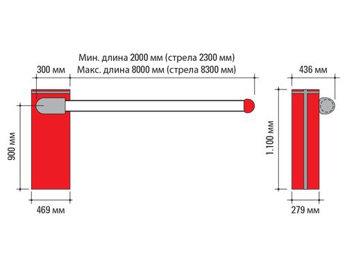 10468077 FAAC B680 HYBRID гидравлический шлагбаум