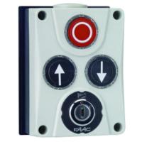 402500 FAAC Панель управления XB300 3х кнопочная с ключом, настенный монтаж