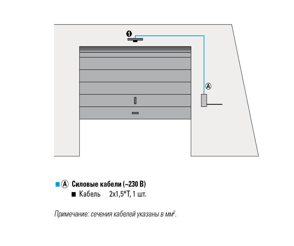 110602 FAAC D700 HS Привод потолочный