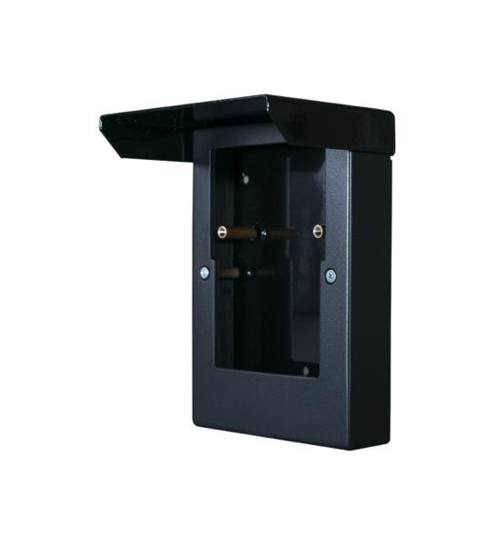 Кожух TI-Vizor 2600С Black. Металлический кожух с пластиковой вставкой для накладного монтажа вызывной панели TI-2600CBlack.