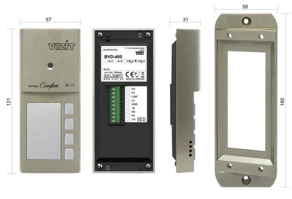 БВД-405CP-4 Блок вызова VIZIT