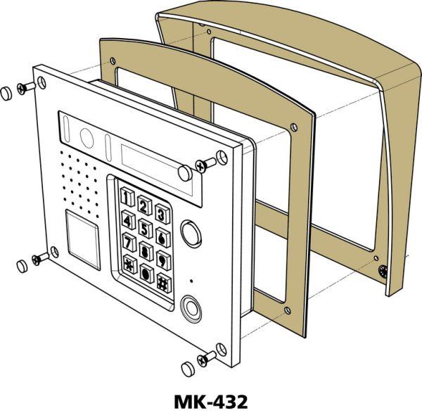 БВД-431DXKCB Блок вызова VIZIT