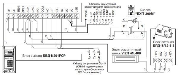 БВД-N201FCP Блок вызова VIZIT