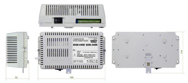 БКМ-440М Блок коммутации и питания VIZIT