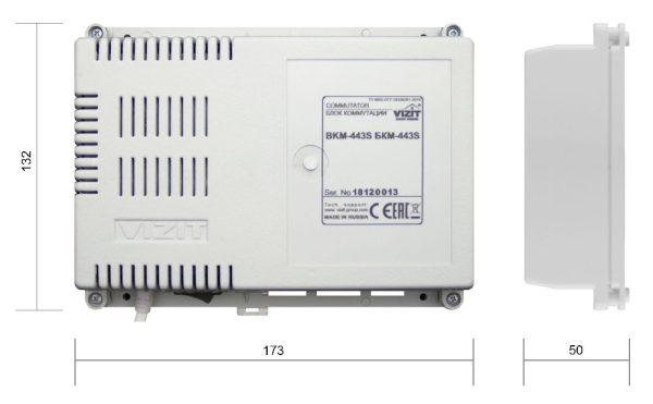 БКМ-443S Блок коммутации и питания VIZIT