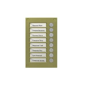 BS-424-8 Кнопочная панель VIZIT