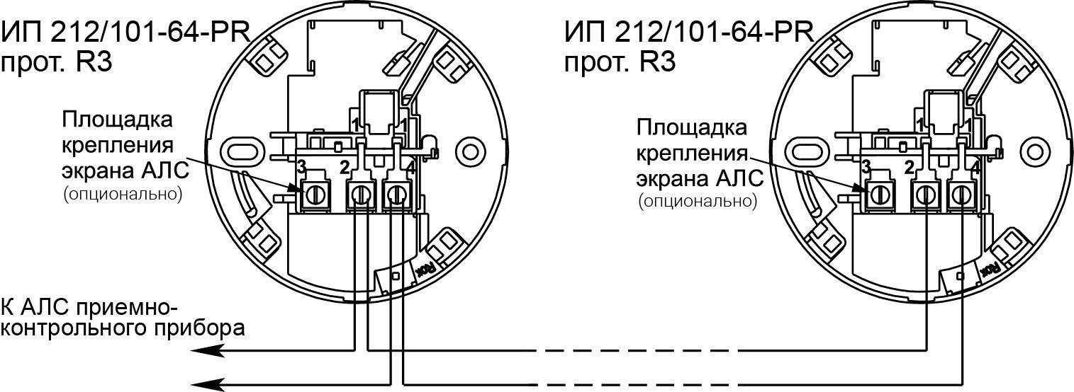 ИП 212/101-64 PR протокол R3 извещатель пожарный