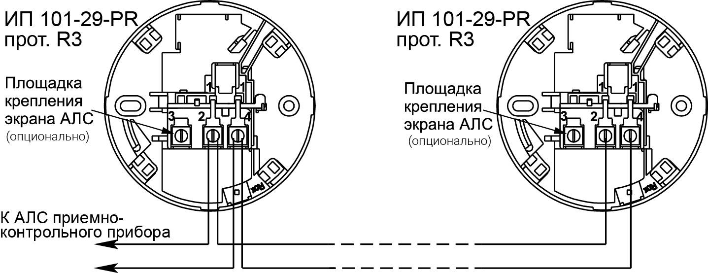 ИП 101-29-PR протокол R3 извещатель пожарный