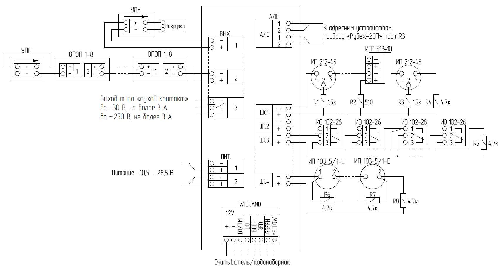 АМП-4 протокол R3 метка адресная пожарная
