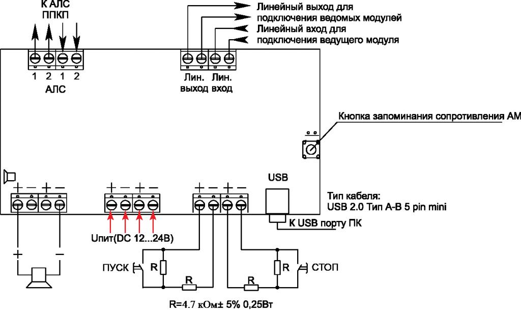 МРО-2М протокол R3 модуль речевого оповещения