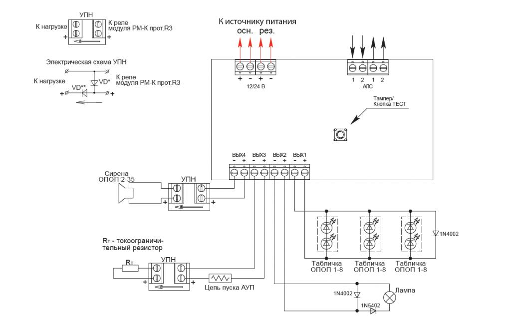 РМ-4К протокол R3 адресный релейный модуль