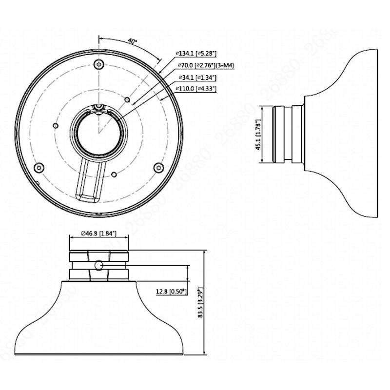 DH-PFA107 Переходной адаптер Dahua