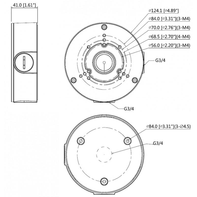 DH-PFA130-E-B Монтажная коробка Dahua