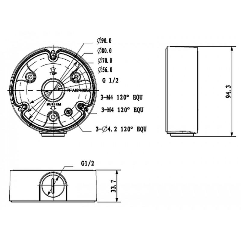 DH-PFA135-B Монтажная коробка Dahua