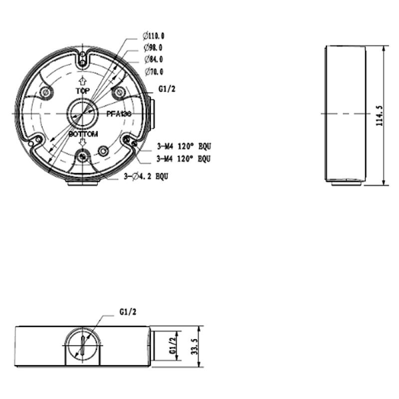 DH-PFA136-B Монтажная коробка Dahua
