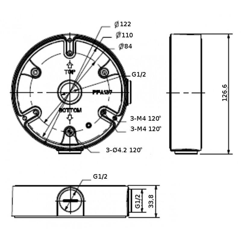 DH-PFA137-B Монтажная коробка Dahua