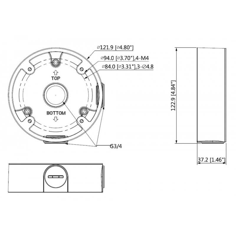 DH-PFA13C-B Монтажная коробка Dahua