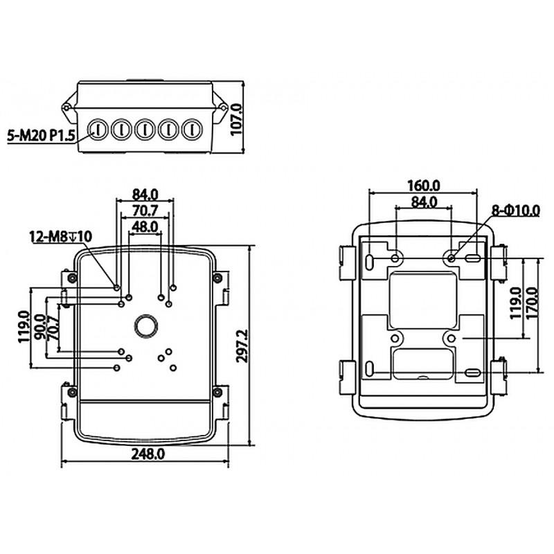 DH-PFA140 Коммутационный короб Dahua