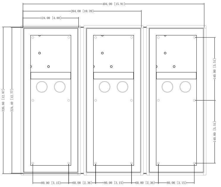 DHI-VTM128 Металлическая монтажная коробка Dahua
