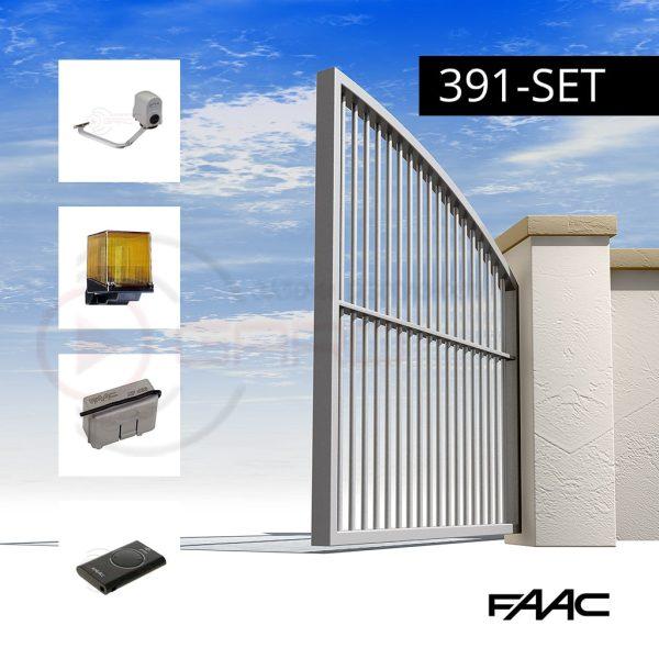 Автоматизация открывания распашных ворот - FAAC