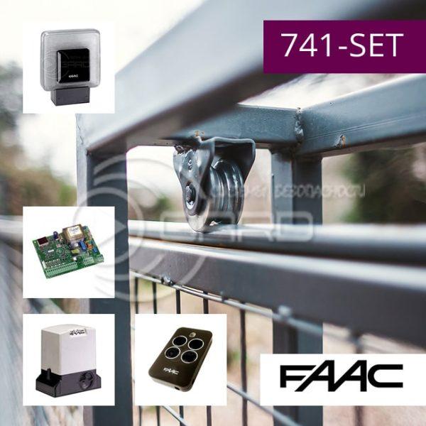 Комплект автоматики FAAC 741-SET для откатных ворот