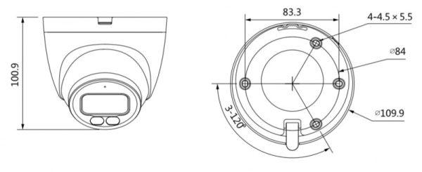IP видеокамера DAHUA DH-IPC-HDW2239TP-AS-LED-0280B