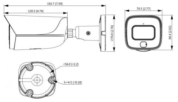 IP видеокамера DAHUA DH-IPC-HFW3449EP-AS-LED-0280B
