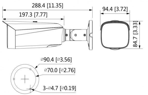 IP видеокамера DAHUA DH-IPC-HFW3449T1P-AS-PV-0280B