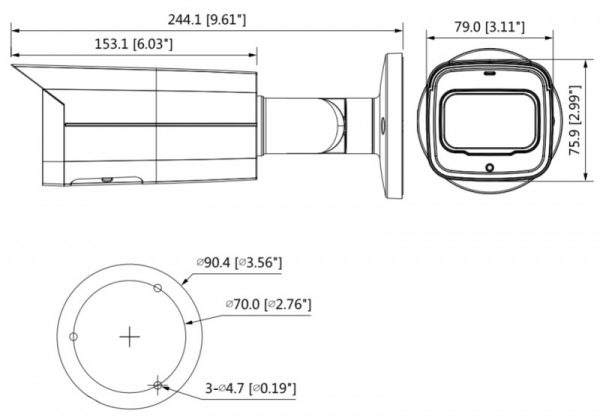 IP видеокамера DAHUA DH-IPC-HFW5541TP-ASE-0800B