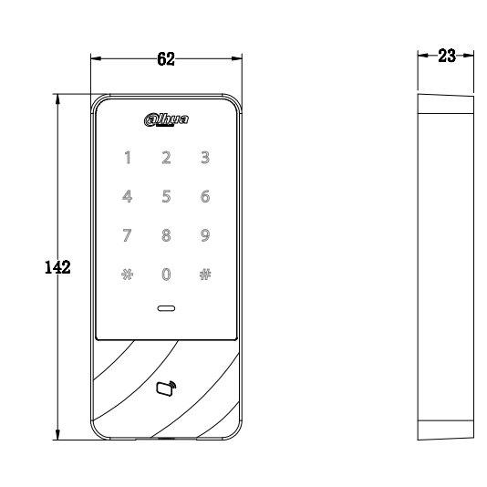 RFID-считыватель DAHUA DHI-ASI1201E-D
